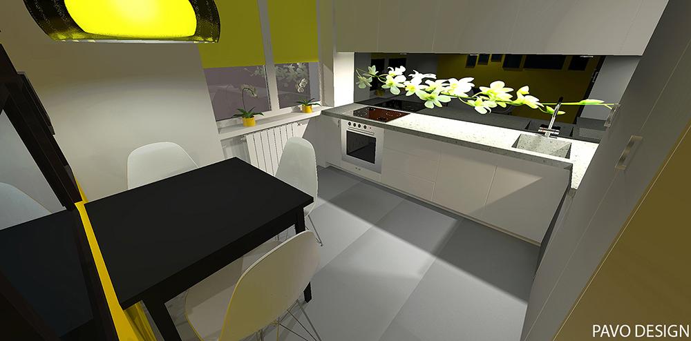 jak dobierać kolory, kuchnia żółty