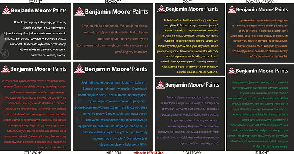jak dobierać kolory, symbolika kolorów Benjamin Moore