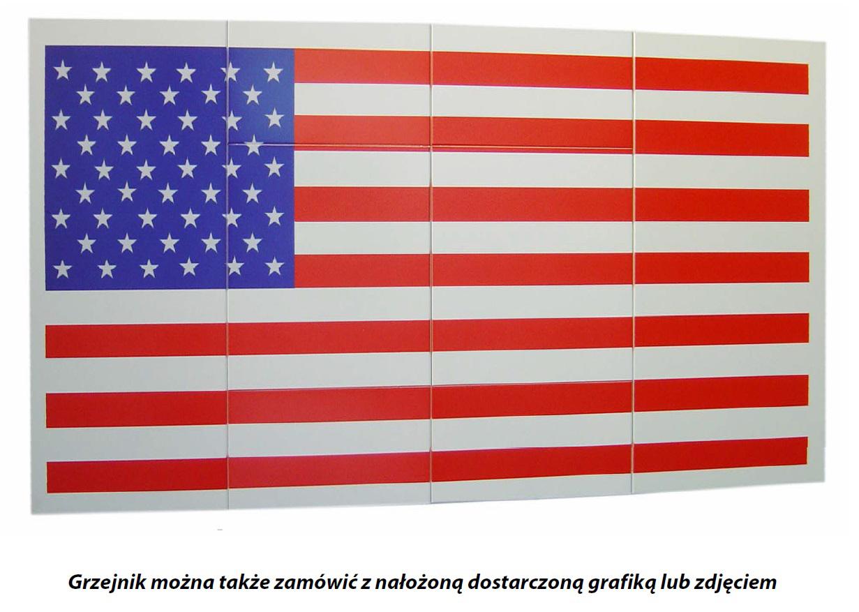 grzejnikowa rewia mody, kalmar nadruk flaga amerykanska