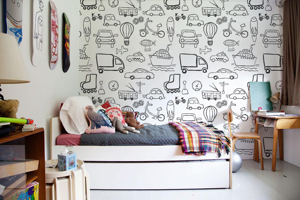 kolorowanki na ścianę, kolorowanka tapeta