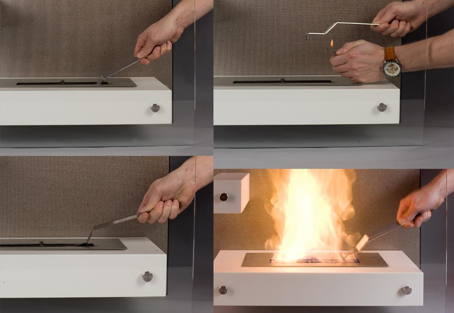 rozpalanie biokominka-alle HOME ART GALLERY