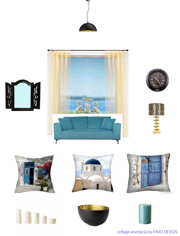 Morskie inspiracje we wnętrzach, Santorini - projekt PAVO DESIGN, marynistyczne aranżacje, morskie inspiracje