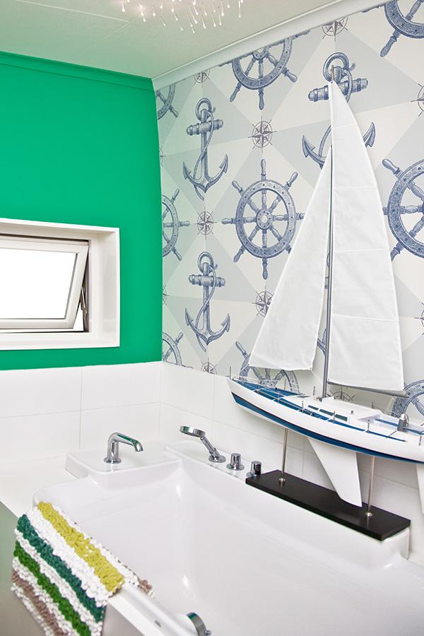 Morskie inspiracje we wnętrzach, marynistyczne aranżacje, morskie inspiracje, marynistyczna łazienka