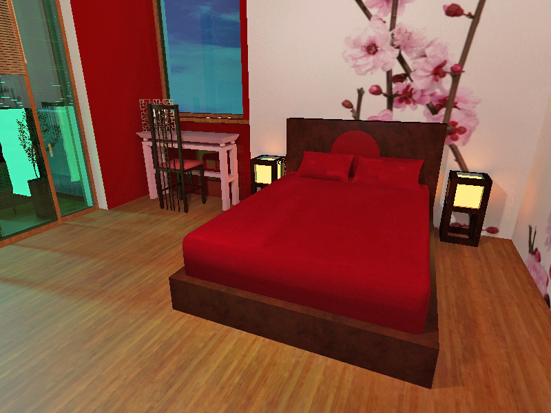 japonska sypialnia
