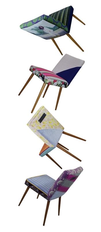 wnętrza i meble w stylu lat 50 i 60, tapicerowanie starych mebli, Melki