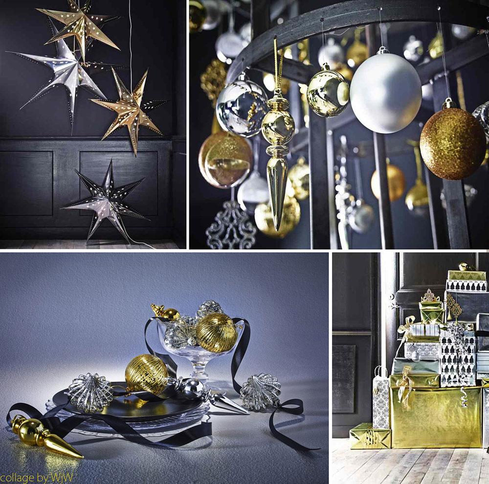 Świąteczne aranżacje, świąteczne aranżacje wnętrz, świąteczne dekoracje, świąteczna aranżacja srebrno-złota