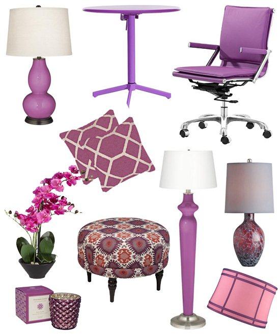 kolor roku 2014, radiant orchid, modny kolor wnętrz