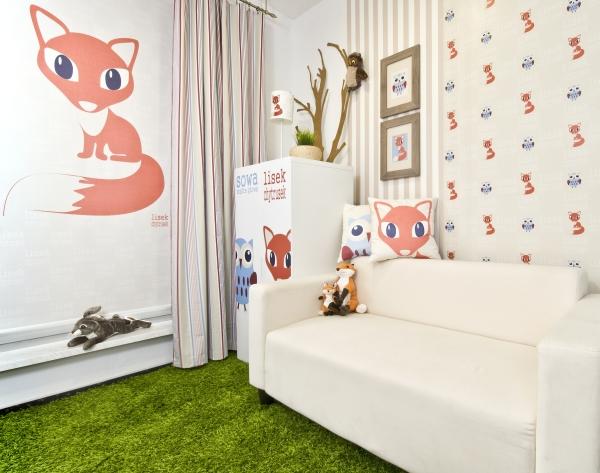 leśne zwierzaki, pokój dziecka inspiracje