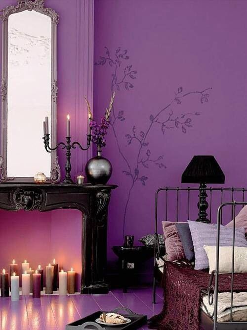 modny kolor wnętrz 2014, colour of the year 2014, promienna orchidea