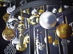 świąteczne aranżacje sebrno-złote