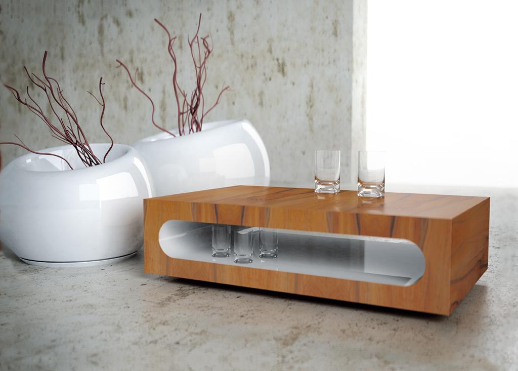 meble nowoczesne i minimalistyczne, stolik Lightray, stolik kawowy drewniany