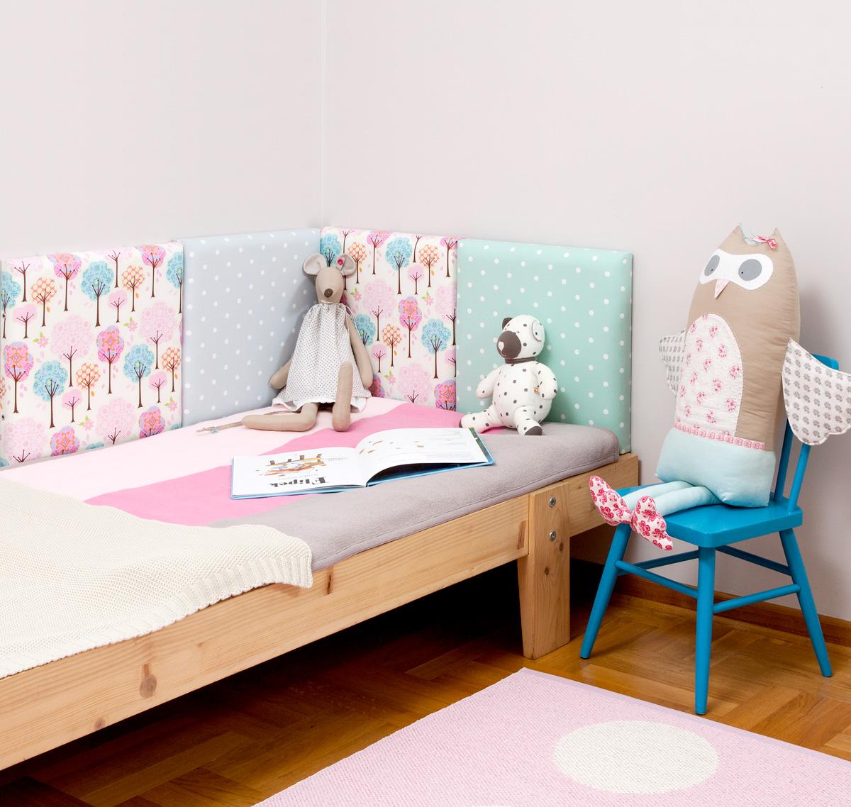 panele tapicerowane, tapicerowany zagłówek łóżka