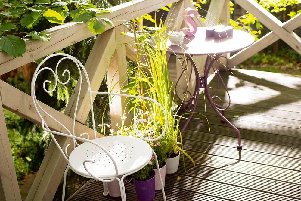 mały balkon, aranżacja małego balkonu