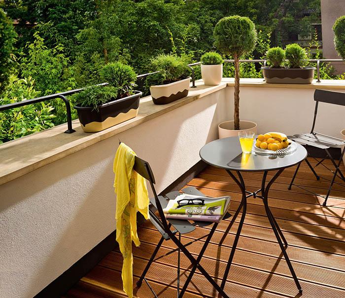 aranżacje balkonu  w różnych stylach