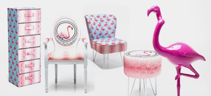 seria flamingo KARE DESIGN, flaming we wnętrzu