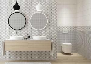 stylowa łazienka, płytki Opoczno
