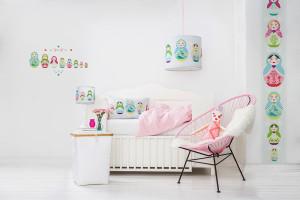 pastelowy pokój dziecka, matrioszki