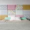 łóżko z miękkim zagłówkiem, panele tapicerowana