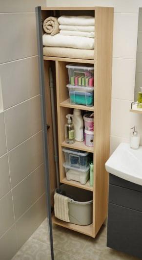 sprytne schowki w łazience, przechowywanie w lazience
