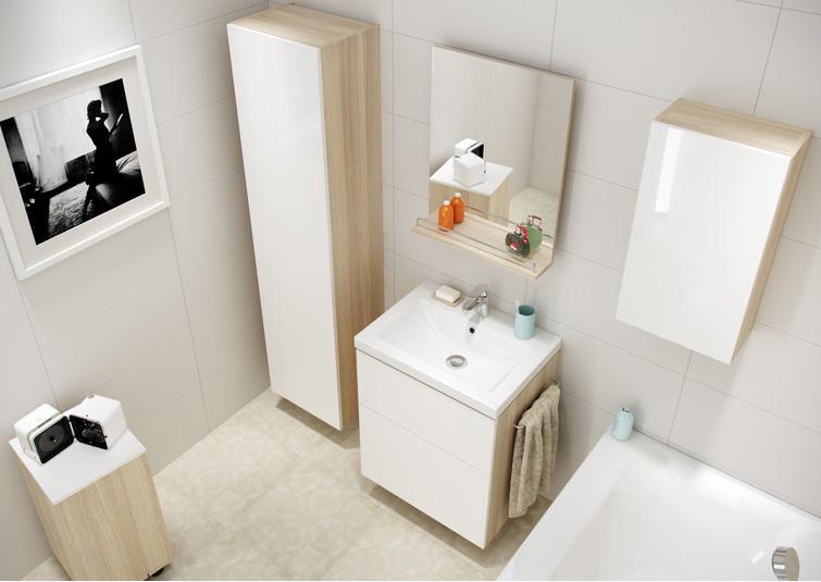 sprytne schowki w lazience, przechowywanie w łazience