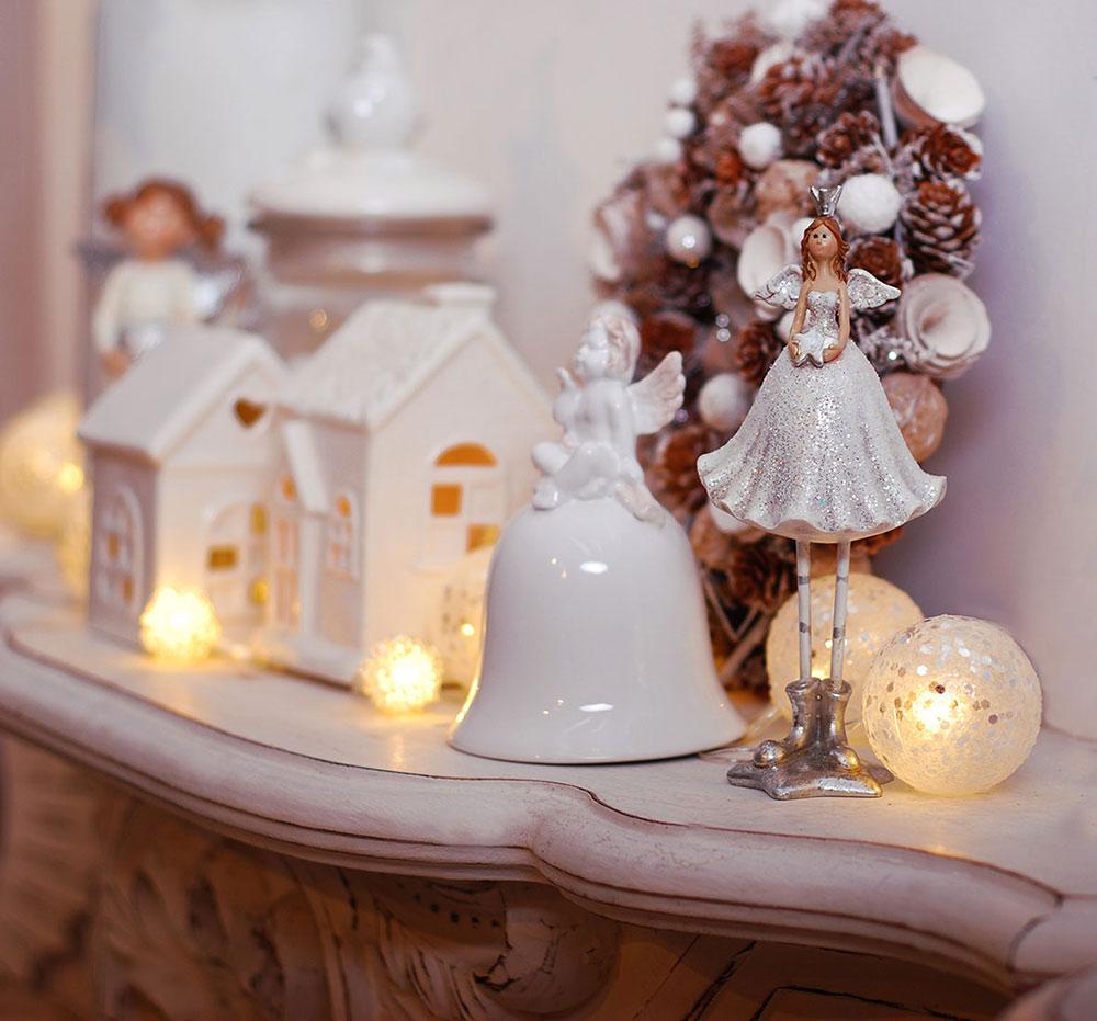 białe święta, białe świąteczne aranżacje