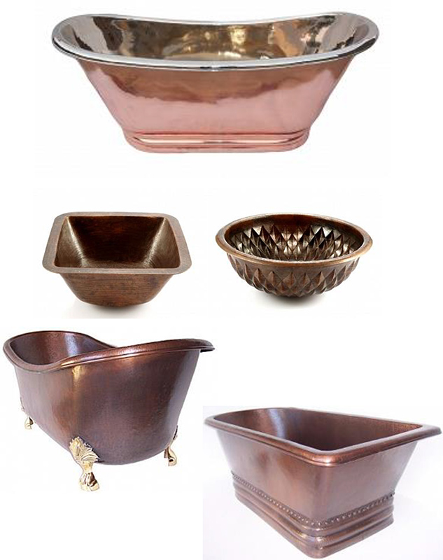 miedziana umywalka, copper bathtube