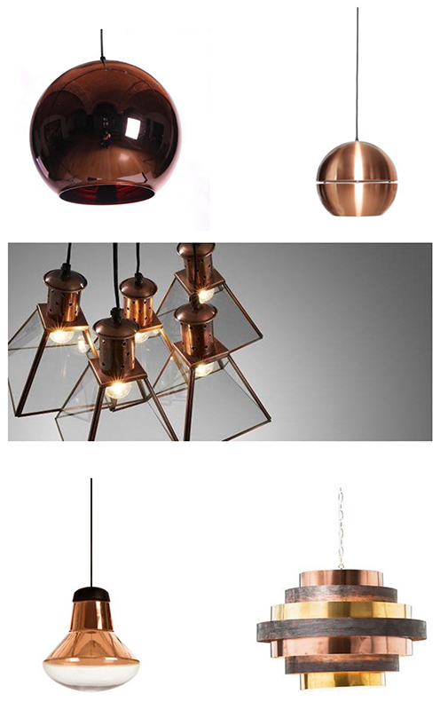 dekoracje z miedzi, copper in interior