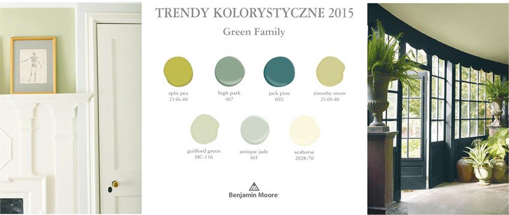 kolor roku 2015 Benjamin Moore, Guilford Green hc-116