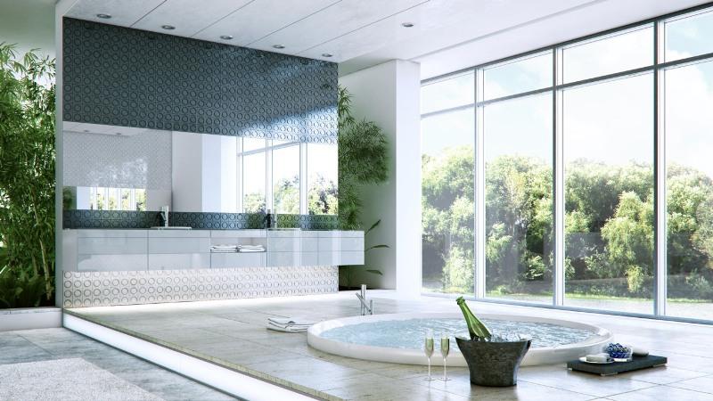 pokój kąpielowy, wanna na tarasie