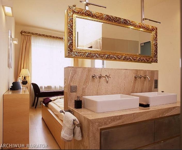 wanna w sypialni, pokój kąpielowy