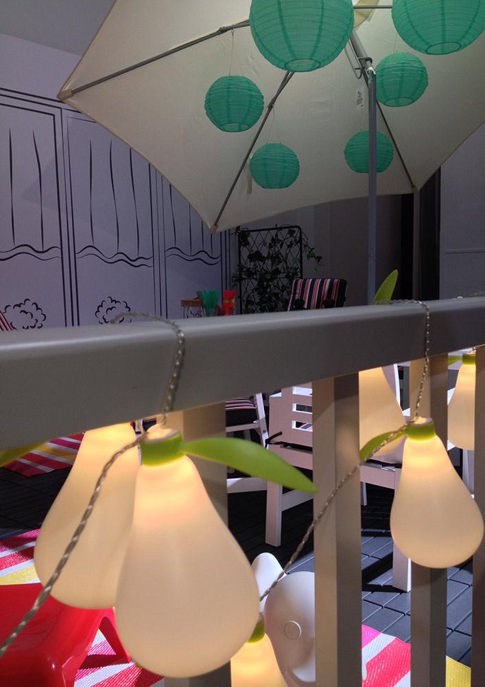 balkon IKEA, mały balkon