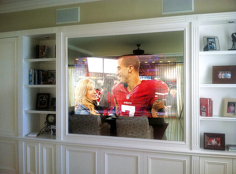 telewizor w lustrze, nowe technologie