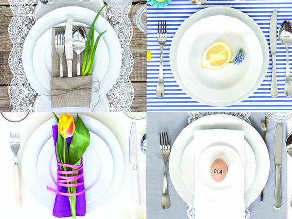 stół wielkanocny w różnych stylach
