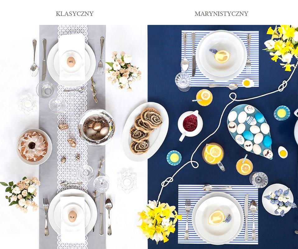 stół wielkanocny w różnych stylach, stół wielkanocny w stylu glamour, stół wielkanocny w stylu marine