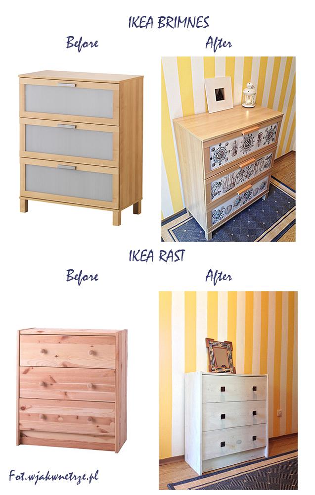 pomysł na komodę IKEA – DIY, pomysł na przedpokój, cupboard ikea befor and after