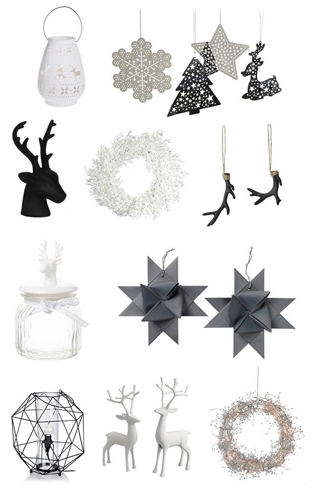 Nietypowe aranżacje bożonarodzeniowe, biało-czarne aranżacje świąteczne