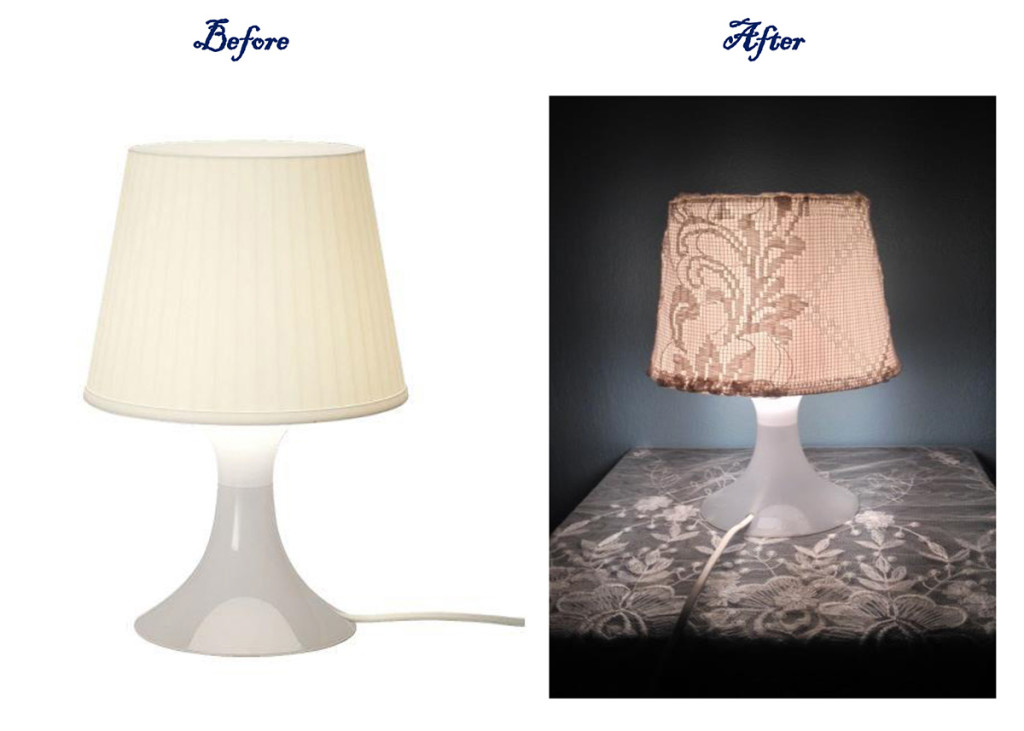 pomysł na lampkę IKEA - DIY, pomysł na lampkę stołową IKEA Lampan IKEA before and after