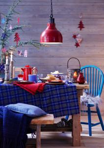 Nietypowe aranżacje bożonarodzeniowe, aranżacje świąteczne w kratę