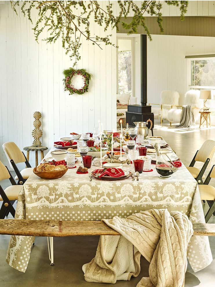 nietpowe aranżacje świąteczne, skandynawskie aranżacje bożonarodzeniowe