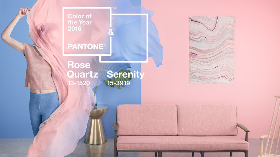 Pantone Rose Quartz Serenity colour