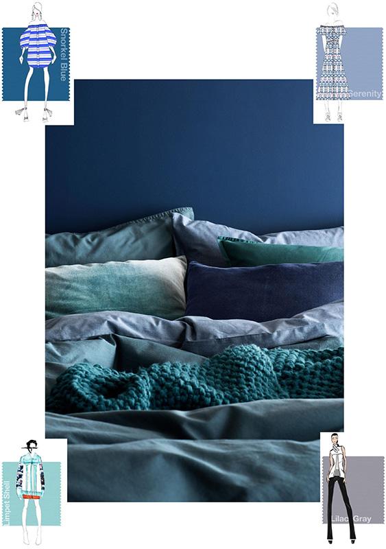 kolor roku 2016 - Rose Quartz i Serenity, niebieskie aranżacje, Serenity, Snorkel Blue & Limpet Shell