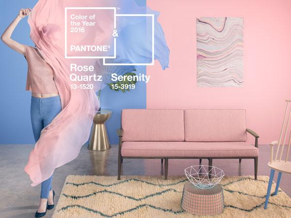 kolor roku 2016 Rose Quartz i Serenity, różowo niebieskie zestawienie kolorystyczne