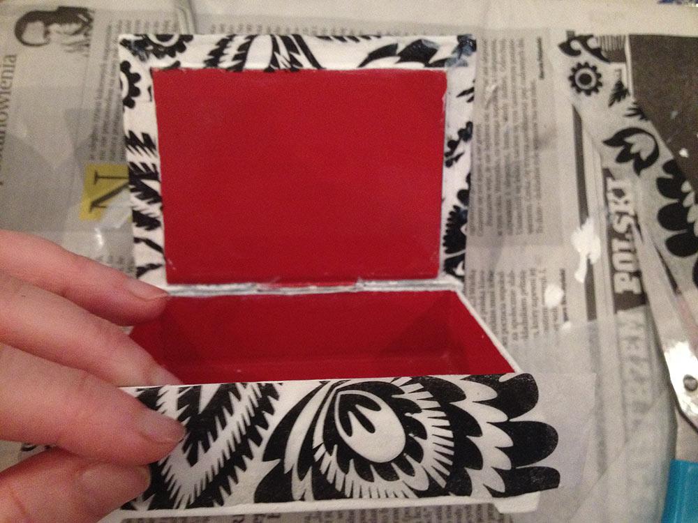 szkatułka decoupage, szkatułka drewniana w technice decoupage - DIY, casket decoupage DIY
