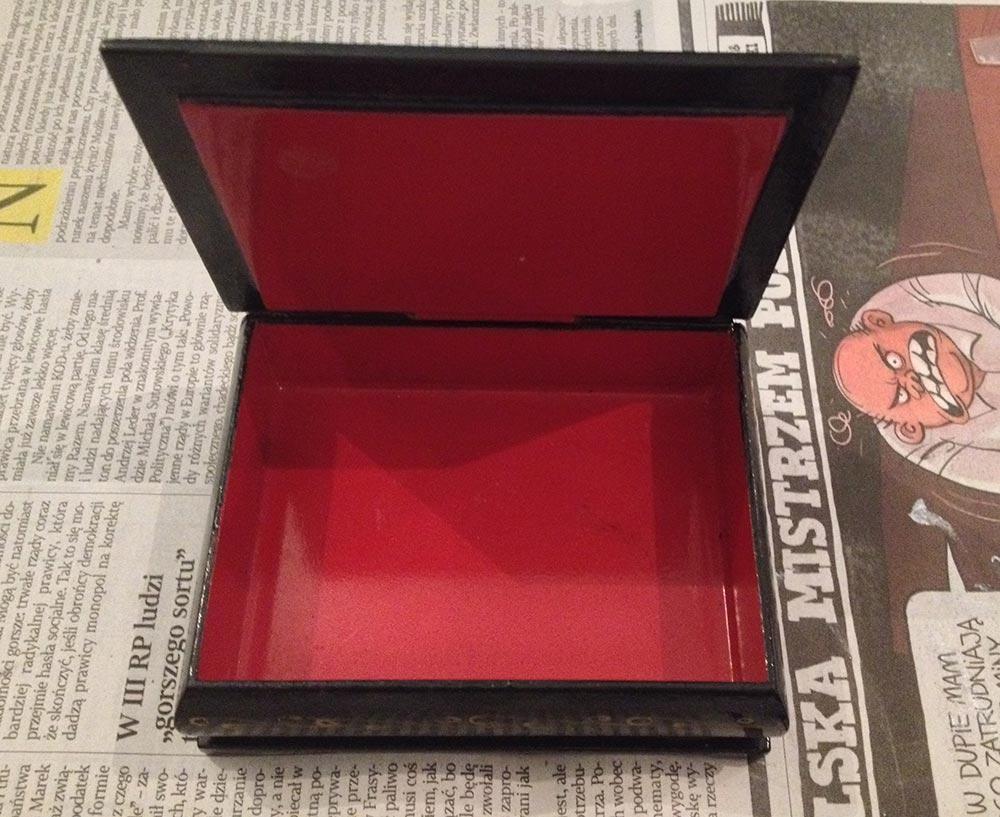 szkatułka drewniana w technice decoupage - DIY, casket decoupage DIY