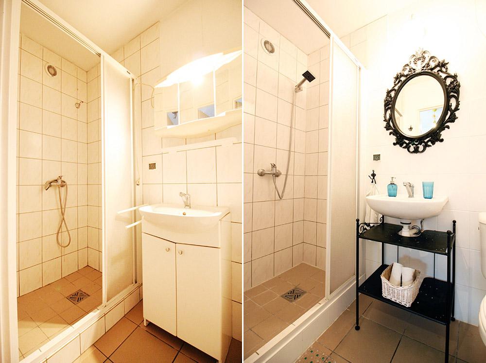 malowanie płytek , malowanie płytek DIY, metamorfoza łazienki bez remontu