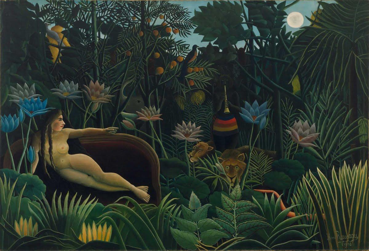 Henri Rousseau, motyw dżungli we wnętrzach
