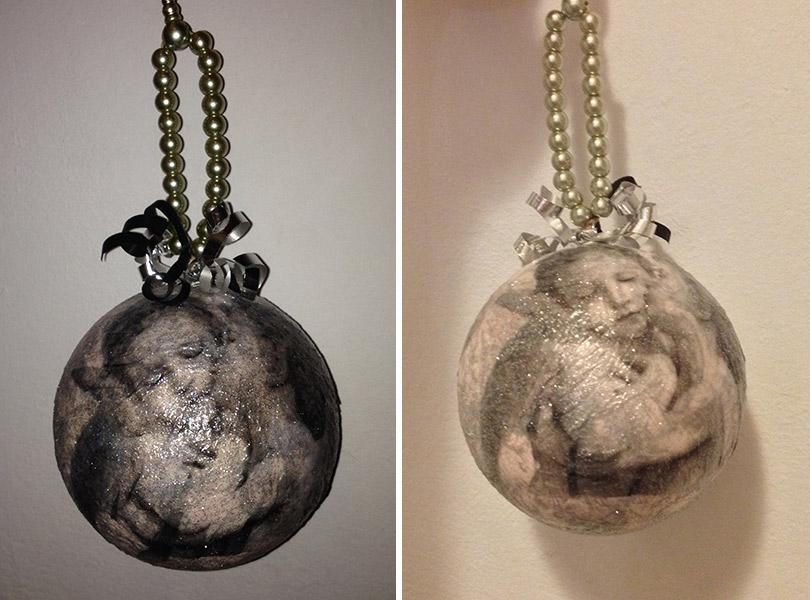 Bombka w technice decoupage – DIY, bombka decoupage krok po kroku