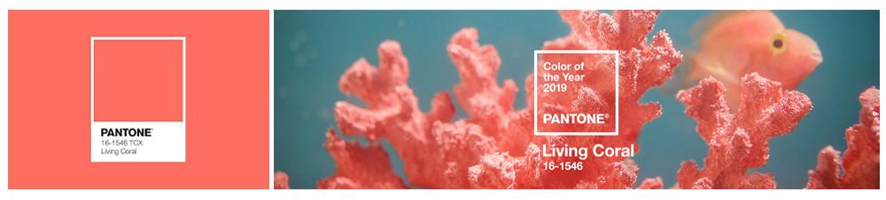 kolory roku 2019 we wnętrzach, living coral pantone